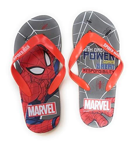 Flip-Flop Spiderman Marvel Sandales de plage pour enfant - Gris - gris, 34 EU EU