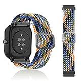 SeNool Correas Compatible con Amazfit GTR 42mm /GTS 2e /GTS 2 Mini (20mm) Pulseras Reloj Banda Nailon Trenzada Loop Hebilla Ajustable de Repuesto para Compatible con GTS /GTS 2 Color Vaquero