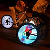 AFGF Rechargeable Programmable DIY Wheel Lights,64 LED Lights Full Color Bicycle Hot Wheels,Bike Spoke Flash Lights Led Bike Wheel Lights (64pcs LEDs)