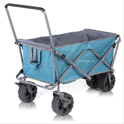 NOLOGO Tragbare Outdoor Cart Zusammenklappbare Utility Camping Lebensmittel Buggys, Faltbare Wagen Einkaufswagen