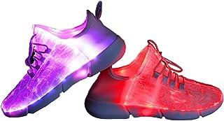 Fiber Optic LED Shoes Light Up Shoes for Women Men USB...