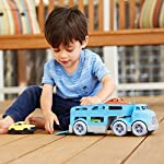 Green Toys Car Carrier Vehicle Set Toy, Blue Loading Cars on Ramp