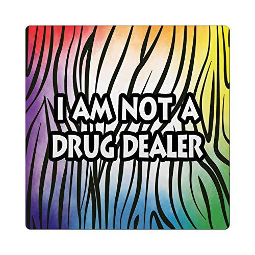 Makoroni - I AM NOT A DRUG DEALER African Design 4x4 inc Drink Coaster w/Cork Backing