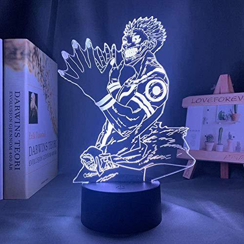 3D Anime ilusión nocturna – Lámpara de noche LED con personaje anime – Con mando a distancia – 7 colores regulables – Decoración de dormitorio lámpara de mesa – Niños Navidad regalo de cumpleaños