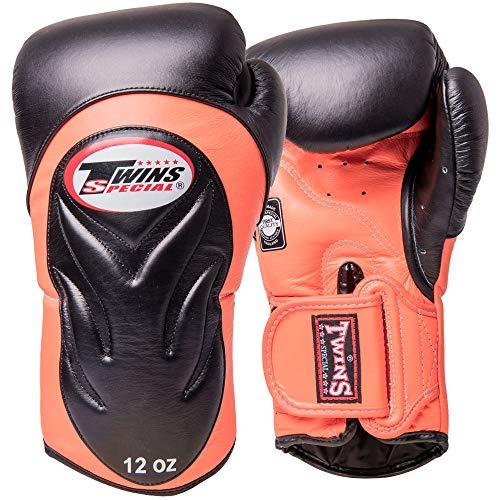 Twins Boxhandschuhe, Premium, BGVL-6, schwarz-orange Größe 12 Oz