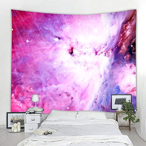 KHKJ Universe Space Nebula Big Art Tapiz Impreso Revestimiento de Pared Psicodélico Colgante de Pared Toalla de Playa Mandala Manta Delgada A12 95x73cm