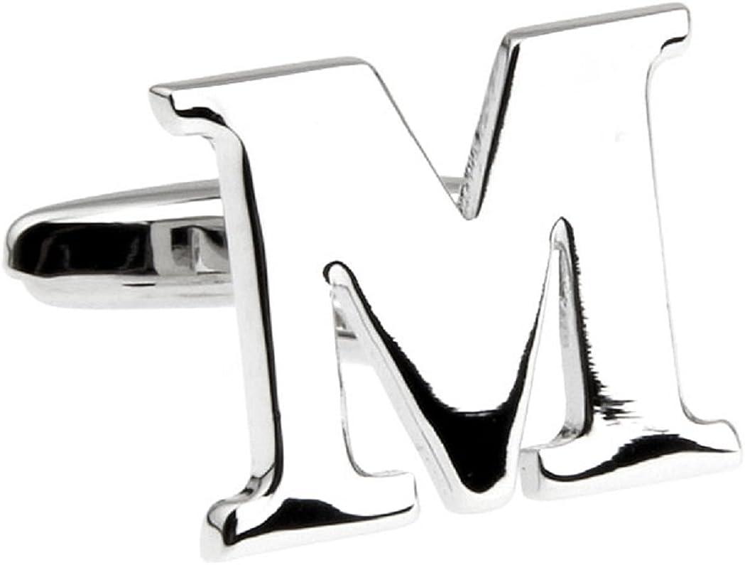 Cheap Ranking TOP4 bargain MRCUFF Letter A-Z Monogram Initial with Presentation a Cufflinks