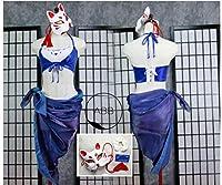 コスプレ衣装◆アズールレーン/加賀 水着(常夏の殺生石)+仮面 全セット