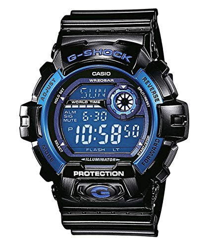 Casio G-SHOCK Orologio 20 BAR, Azzurro/Nero, Digitale, Uomo, G-8900A-1ER