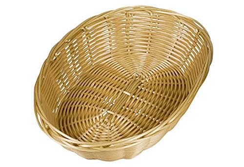 Kesper Brotkorb, Kunststoffkorb, Küchenkorb, groß, oval, aus Kunststoff, Maße: 240 x 200 x 60 mm, braun