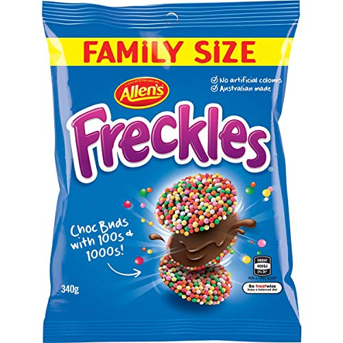 Allen's Freckles Family Bag - 340g / 12oz - Australian Chocolate with...