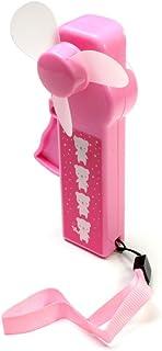 Ventilador de mano Rosa con osos-diseño de correa, manual explotarán (51640F)