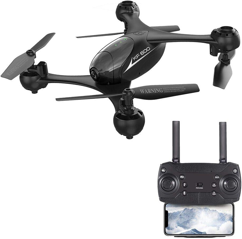 EbuyChX KF600 720P WiFi FPV RC Drone - RTF Optical FFaible G-Sensor Control Waypo noir 1 Battery