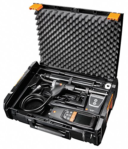 Testo 0563 3220 71 320 Combustion Analyzer with Printer, 2.56' Height, 3.35' Width, 9.45' Length
