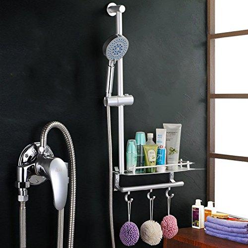 Modern eenvoudig messing vervaardigd gepolijst warm en koud wastafel kraan badkamer wastafel kraan volledig koper douche met douchebak eenvoudige douchekraan vijf functies