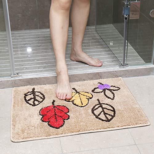 LIZHAIMING Cuarto de baño de Microfibra Rural Puerta Principal Mat rectángulo Felpudo Antideslizante Alfombra Absorbente de Cocina Mat Suave Puerta de Entrada Alfombra,C,45×65