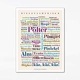 Poster Bielefelder Wörter (30x40 cm)