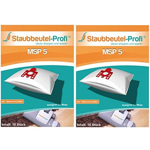 20 Staubsaugerbeutel MSP5 von Staubbeutel-Profi® kompatibel zu Swirl M50, Swirl M54, Swirl M55 & Org. Miele Typ F/J/M FJM HyClean 3D