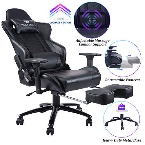 Killabee Big and Tall 350lb Massage Gaming Chair