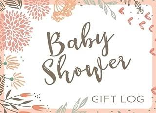 Baby Shower Gift Log: Gift Log & Guest Book