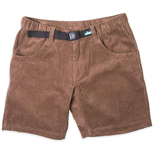 KAVU Chilli Roy Quick Dry Shorts with Elastic Waist and Belt Trunks-Elm-M