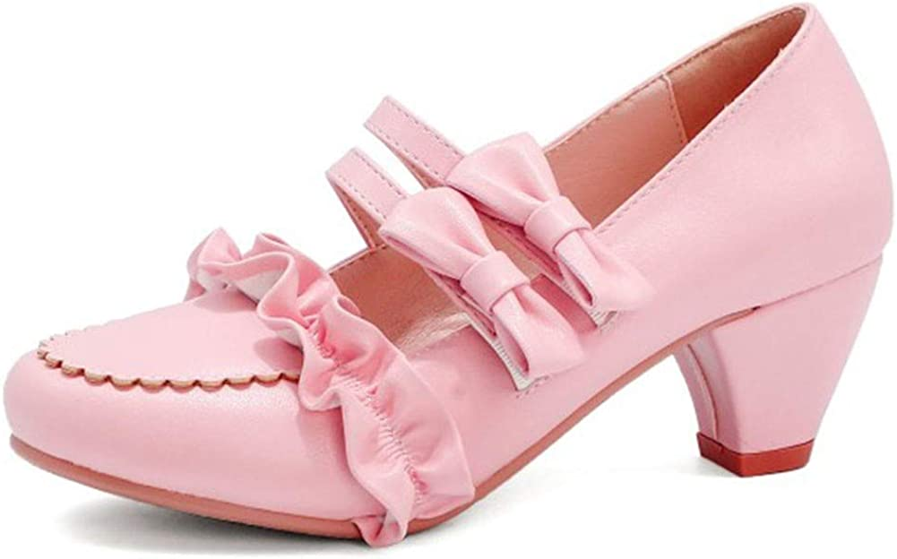 Vimisaoi Mary Janes Shoes for Women Lolita Inventory cleanup selling famous sale Mid Slip-on Pump Heel