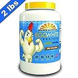 Egg White Protein Powder | All Natural Ingredients - 25g Protein, No Cholesterol, Zero Sugar - 2 Pound (Milk Chocolate) - Dairy Free Protein