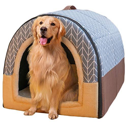 LTLJX Grande Perro Cama para Mascota Invierno Nido 2 en 1 Sofá Lavable Casa Cómoda para Perros Cachorro Conejo Invierno,A,XXL 92 * 68 * 72cm