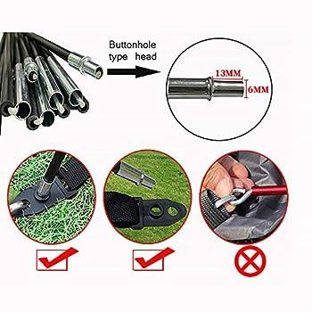 HITECHLIFE 7 MM Arc tente en fibre de verre de remplacement Poteau Support de camping Poteaux légers pour aventuriers en voyage Accessoires pour équipements