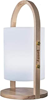 comprar comparacion Lumisky - Farol de jardín con asa de madera inalámbrica sobre batería WOODY LED (polietileno rotomolado, 19 x 37 cm)
