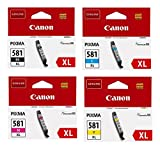 Canon Original Druckerpatronen CLI-581 XL Multipack schwarz,Cyan, Magenta, gelb 8,3ml (OP2052C001)