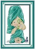 Kit De Punto De Cruz,Patrones Fáciles De Bordar Para Niños Adultos Manualidades,Suministros De Punto De Cruz, Beauty And Manicure 40X50Cm (11Ct Lienzo Preimpreso)