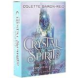 LHJY 58 Cartas Oracle Tarot, Crystal Spirits Oracle Card, Inglés Completo, Juegos De Cubierta De...