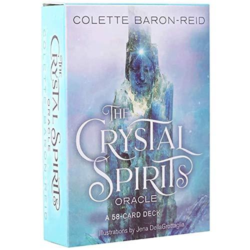 LHJY 58 Cartas Oracle Tarot, Crystal Spirits Oracle Card,...