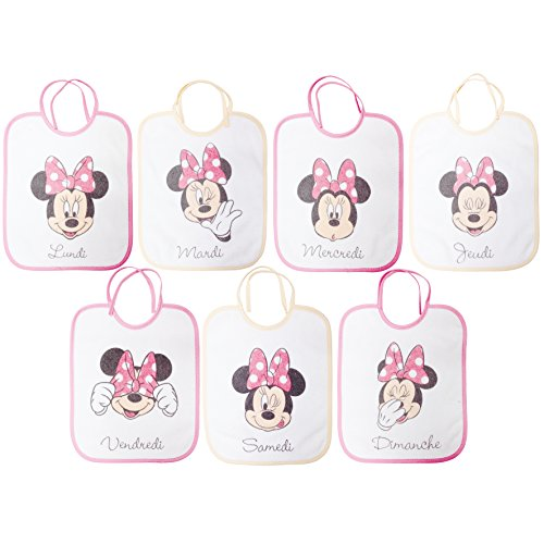 Babycalin DIS201706 Lätzchen, 22 x 27 cm, Disney Minnie, 7 Set, multicolore, 7 pezzi