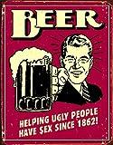 signs-unique Beer Ugly People Cartel de Chapa Placa Metal Plano...