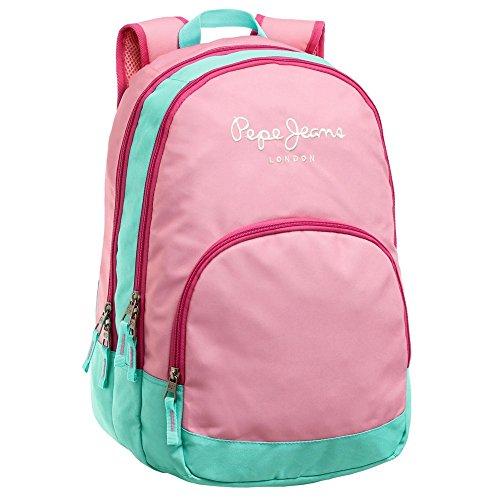 Pepe Jeans 6252451 Bicolor Mochila Escolar  22.85 litros  Rosa