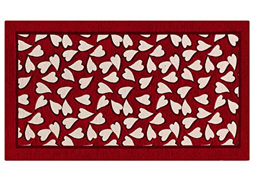BIANCHERIAWEB Tappeto Passatoia Runner Cucina Antiscivolo Antimacchia Lavabile Sweet Suardi 55x115 cm Rosso