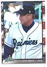 DAN ROHN 2004 TACOMA RAINIERS Multi Ad Manager Card #28 Baseball Minor League