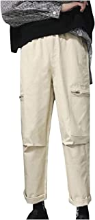 Energy Mens Zipper Pockets Cargo Pants Straight Relaxed-Fit Casual Pants
