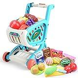 Ocobudbxw Mini Carrito de Compras para niños, Juguetes, Frutas y Verduras, Regalo para niños y niñas