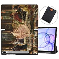 MAITTAO Samsung Galaxy Tab S6 10.5 Case S Pen Holder with Charged Wirelessly, Folio Smart Stand Cover Galaxy Tab S6 10.5 Inch SM-T860/T865 /T867 2019 Tablet Sleeve Bag 2 in 1, Classical Painting 13