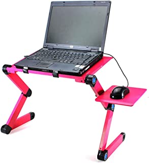 Portable Mobile Laptop Stand Table, Folding PC Table Living Room Furniture Home Office Computer Desk with Mouse Pad and US...
