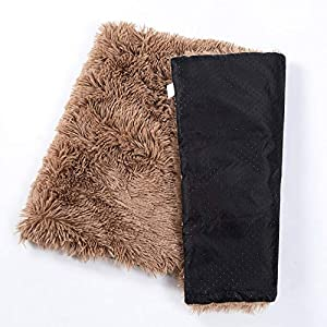 SOFISO Dog Bed Cat Bed Ultra Soft Plush Dog Crate Mat Pet Beds Mat for Cage Sofa Car Anti Slip Pet Cushion Self-Warming Dog Crate Bed Machine Washable(S-M-L)