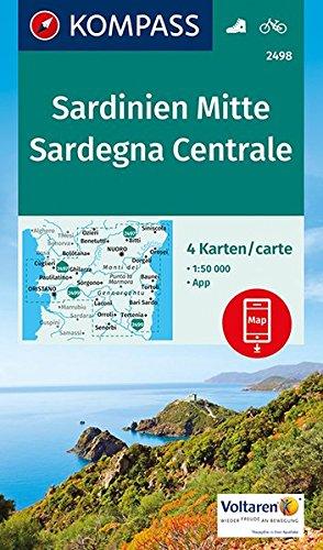 KOMPASS Wanderkarte Sardinien Mitte, Sardegna Centrale: 4 Wanderkarten 1:50000 im Set inklusive Karte zur offline Verwendung in der KOMPASS-App. Fahrradfahren. (KOMPASS-Wanderkarten)