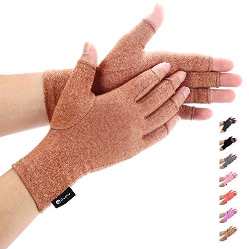 Duerer Arthritis Handschuhe - Compression Handschuhe f¨¹r Rheumatoide & Osteoarthritis - Handschuhe bieten arthritische Gelenkschmerzen Linderung der Symptome - M?nner und Frauen(Braun, L)