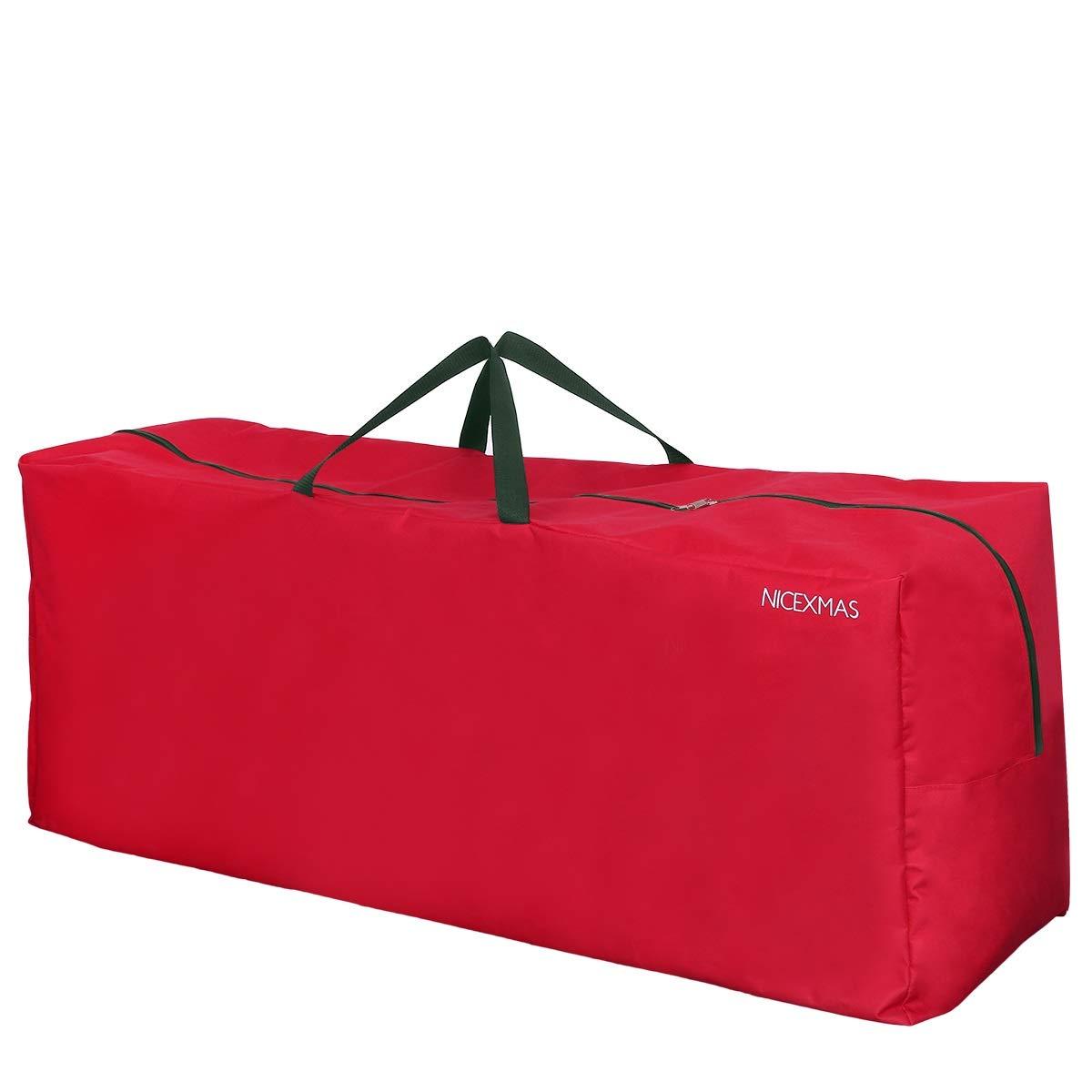 NICEXMAS - Bolsa de almacenamiento para árbol de Navidad, Rojo, 135 x 38 x 54 cm: Amazon.es: Hogar