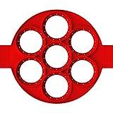 Múltiples formas 7 orificios antiadherente para hornear moldes fritos huevos fritos moldes de huevos de silicona creake fabricante para cocina de cocina de cocina de cocina (Color : Red)