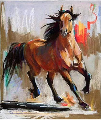 Jkykpp Digitalmalerei Pferd im Galopp, 40 x 50 cm