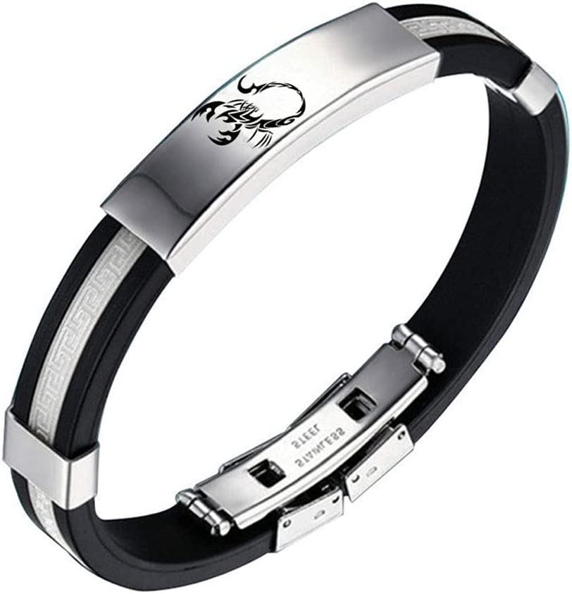 LYWER Creative Men and Popular product Women Students Titanium Same day shipping Steel Bracelet Sp